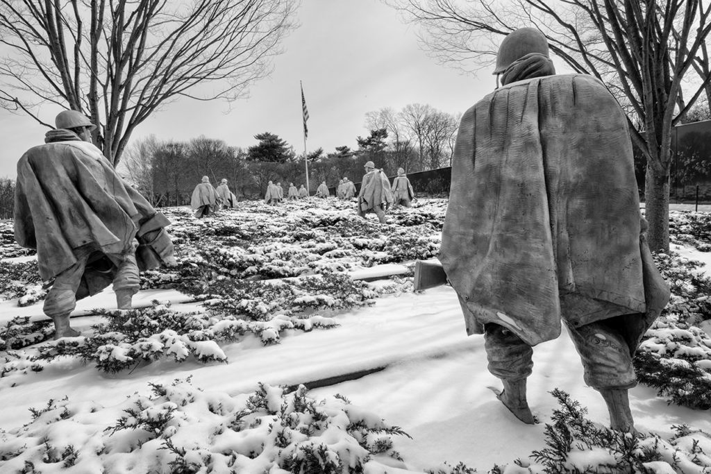 D800-Korean War Memorial-0980-2014-03-04B&W