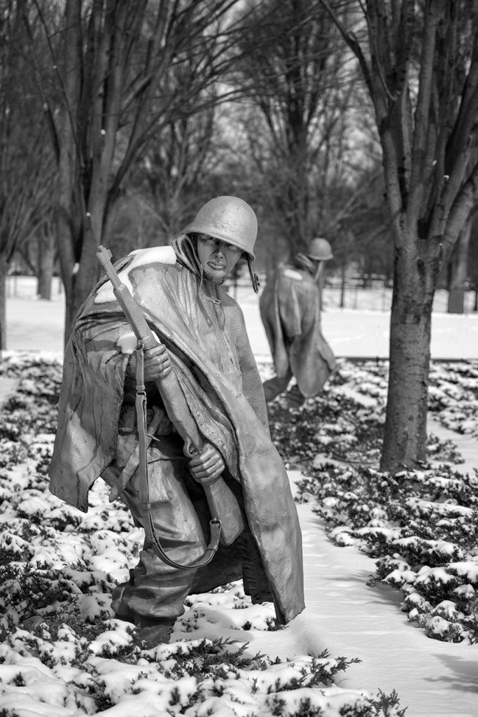 D800-Korean War Memorial-0984-2014-03-04B&W